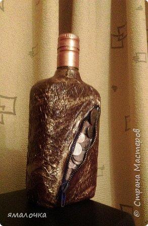 Очень понравилось декорировать бутылочку с молнией. фото 1