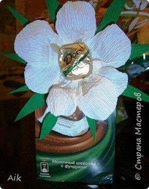 Это мой всего лишь второй букет в подарок  замечательному человечку другу по жизни, сложились цветочки добавились бусинки, и  был доставлен имениннице на работу в разгар рабочего дня! у нас ещё в то время в продаже подобных не было... фото 11