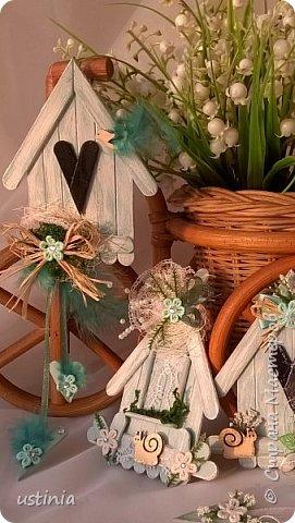 Натворилось ещё  домиков и скворечников!!!! Мой МК по ним здесь    http://stranamasterov.ru/node/1000482. Скорей бы уже лето!!! Так хочется Ярких цветов!!!! фото 3