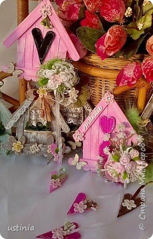 Натворилось ещё  домиков и скворечников!!!! Мой МК по ним здесь    http://stranamasterov.ru/node/1000482. Скорей бы уже лето!!! Так хочется Ярких цветов!!!! фото 7