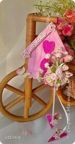 Натворилось ещё  домиков и скворечников!!!! Мой МК по ним здесь    http://stranamasterov.ru/node/1000482. Скорей бы уже лето!!! Так хочется Ярких цветов!!!! фото 10