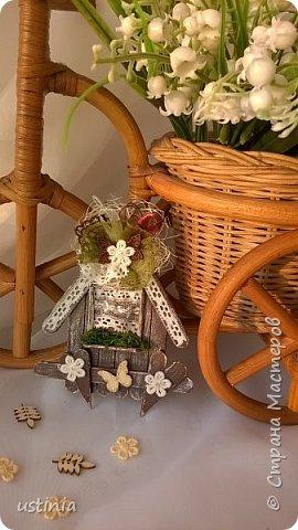 Натворилось ещё  домиков и скворечников!!!! Мой МК по ним здесь    http://stranamasterov.ru/node/1000482. Скорей бы уже лето!!! Так хочется Ярких цветов!!!! фото 5