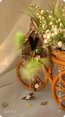 Натворилось ещё  домиков и скворечников!!!! Мой МК по ним здесь    http://stranamasterov.ru/node/1000482. Скорей бы уже лето!!! Так хочется Ярких цветов!!!! фото 9