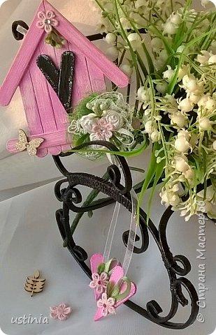 Натворилось ещё  домиков и скворечников!!!! Мой МК по ним здесь    http://stranamasterov.ru/node/1000482. Скорей бы уже лето!!! Так хочется Ярких цветов!!!! фото 11