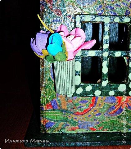 Добрый вечер дорогие мои !!!! Сделала абсолютно РАЗНЫЕ чайные домики давно,да всё как-то некогда было похвалиться...Ну вот  теперь добралась таки,хотя работ уже нет-первую подарила,вторую купили. Первая работа сделана в технике декупажа. фото 6
