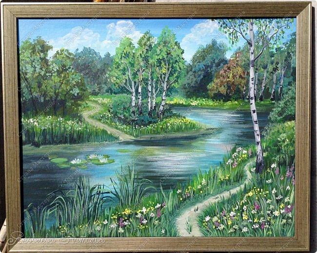 Картина нарисована акрилом, на грунтованном картоне, размером 40х50 Вдохновение нашла в интернете. фото 1