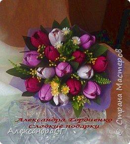 """Запахло весной, очень хочется ярких весенних красок и солнечных деньков. Настроение поднимают любимые букеты. К 8 Марта готова))) """"Вырастила"""" самые настоящие весенние цветы (крокусы да тюльпаны) фото 3"""