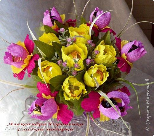 """Запахло весной, очень хочется ярких весенних красок и солнечных деньков. Настроение поднимают любимые букеты. К 8 Марта готова))) """"Вырастила"""" самые настоящие весенние цветы (крокусы да тюльпаны) фото 5"""