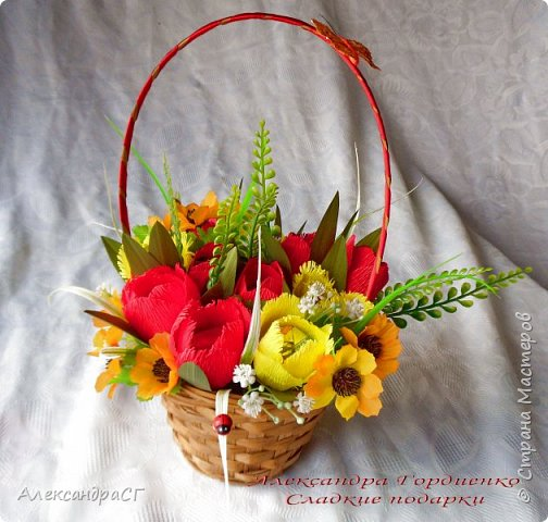 """Запахло весной, очень хочется ярких весенних красок и солнечных деньков. Настроение поднимают любимые букеты. К 8 Марта готова))) """"Вырастила"""" самые настоящие весенние цветы (крокусы да тюльпаны) фото 7"""