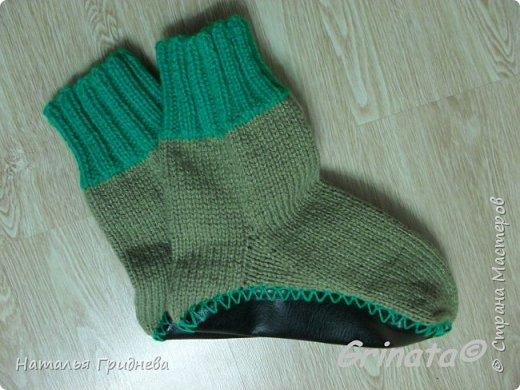 В Дню защитников отечества готова! В нашей семье мужчины любят вязанные носки. Всем мужикам по носкам )))) фото 2