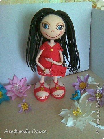 Кукла Кристина из фоамирана в красном фото 3