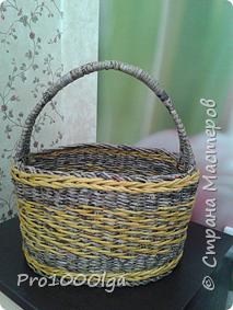 Корзинка с плетеным дном