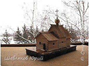Церковь Лазаревская XIV в. (макет из стеков) фото 1