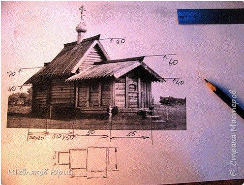 Церковь Лазаревская XIV в. (макет из стеков) фото 3