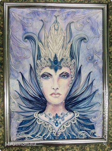 Снежная королева. Из бумажных лент шириной 1,5мм фото 1