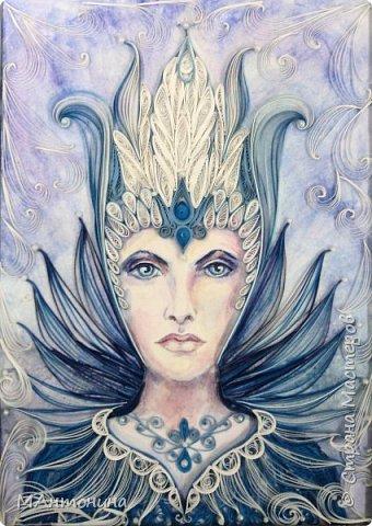 Снежная королева. Из бумажных лент шириной 1,5мм фото 2