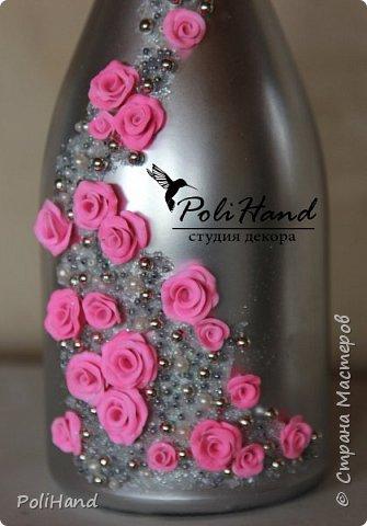 Подарочная бутылка - на свадьбу, день рождение, 8 марта, юбилей! Авторская ручная работа студии декора PoliHand фото 3