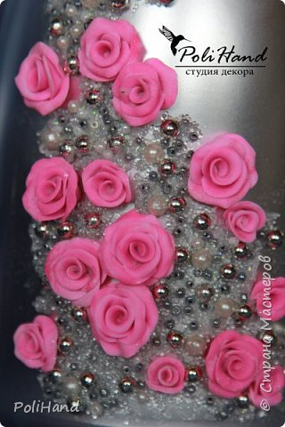 Подарочная бутылка - на свадьбу, день рождение, 8 марта, юбилей! Авторская ручная работа студии декора PoliHand фото 2
