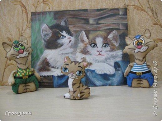 Котик-солдат и котик-моряк из бязи по МК Людмилы Набиуллиной.  фото 2