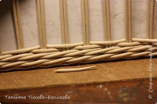 Фотоотчет о создании этой плетенки с картонным дном и не только этой) Надеюсь буду Вам полезной) фото 21