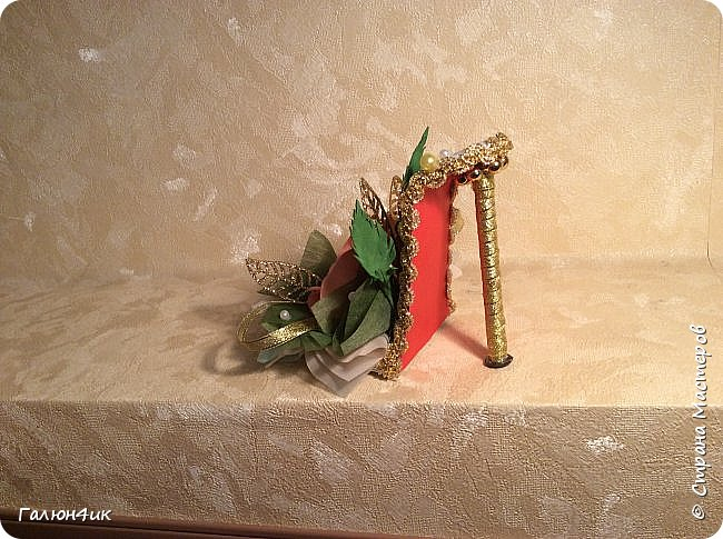 Всем добрый день!!! Идет активная подготовка к женскому дню... Заразилась вашими идеями и воплощениями, своим коллегам тоже подготовила подарки...выношу на ваш суд свои творения-это мои первые туфельки. Всем приятного просмотра... фото 12