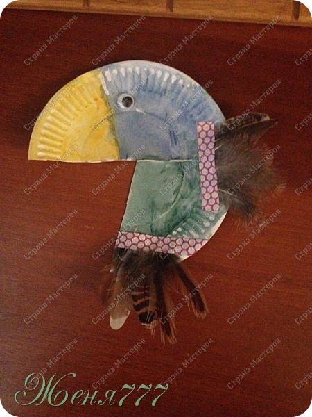 Вот такие поделки мы делали с младшими :) огромное спасибо Мариночке за пёрышки . Этого лебедя золотого сделал Володя  фото 4