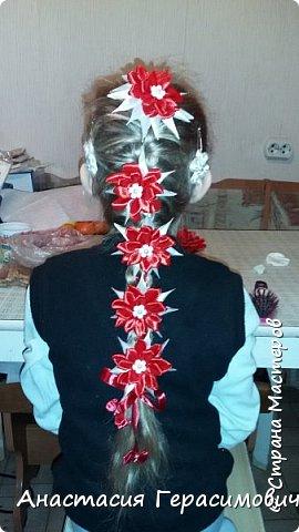 Вот выросли у дочки волосы. Мама научилась плести красивые косы. Нужно было их чем-то украсить.  фото 1