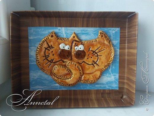Два влюбленных котика.  По работе Инессы Креймер.  фото 2