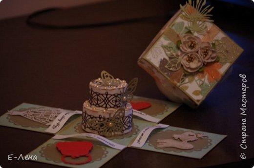 Коробочка-сюрприз, выполнена в подарок подруге на юбилей. фото 2