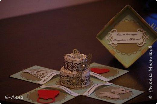 Коробочка-сюрприз, выполнена в подарок подруге на юбилей. фото 3