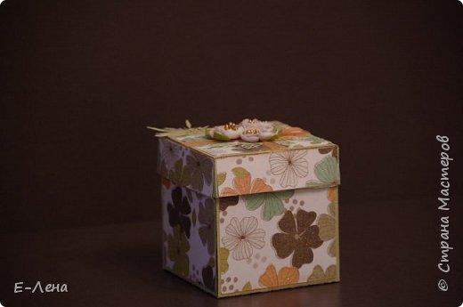 Коробочка-сюрприз, выполнена в подарок подруге на юбилей. фото 1