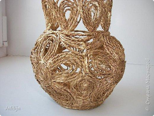 Уважаемые жители Страны мастеров! Хочу пополнить коллекцию ваз из джутовой верёвки, которых немало в недрах интернета. фото 5