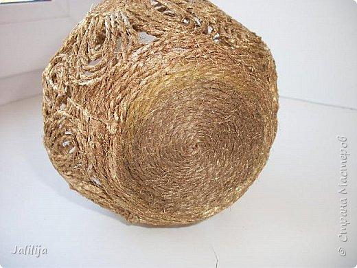 Уважаемые жители Страны мастеров! Хочу пополнить коллекцию ваз из джутовой верёвки, которых немало в недрах интернета. фото 6