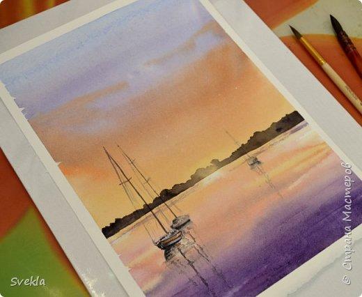 Мастер класс: Рисуем акварелью морской пейзаж.