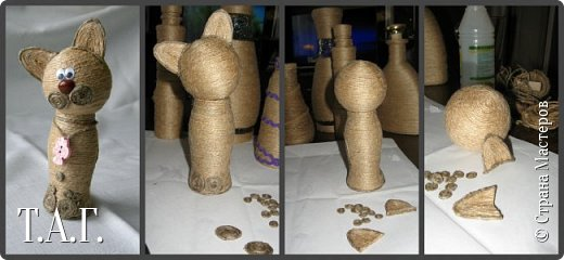 Признаюсь откровенно, что до последнего МК по созданию елочных шаров ( http://stranamasterov.ru/node/1004386 ), никогда дела с джутовым шнуром не имела. Кое что с ним и из него делали дети http://stranamasterov.ru/node/997271 . фото 3