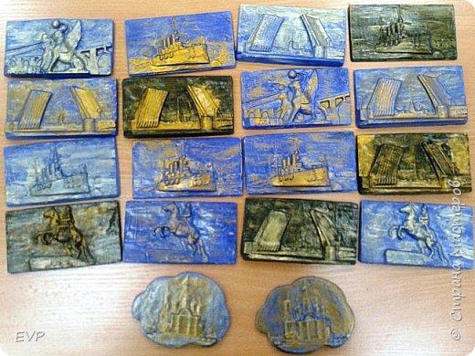Подарки папам - гипсовый магнит с видами Санкт-Петербурга. фото 11
