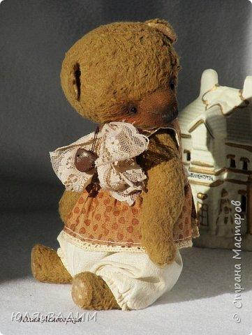 Тедди сшиты из вискозы производства Германия или винтажного плюша , очень плотно набиты опилками. В каждой игрушке по 5- 6 шплинтов. Одежда снимается. Рост с ушками заек 24-25см. фото 6