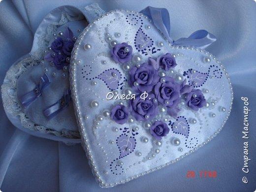 Свадебный комплект в нежной сиреневой гамме. фото 4