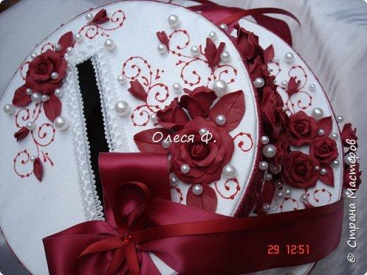 Свадебный комплект в модном ныне винном цвете МАРСАЛА. Выполнен на заказ.  фото 10