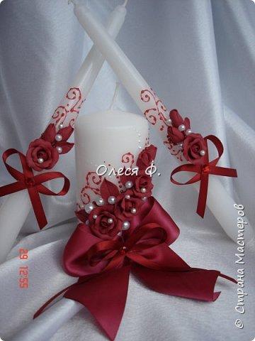 Свадебный комплект в модном ныне винном цвете МАРСАЛА. Выполнен на заказ.  фото 8
