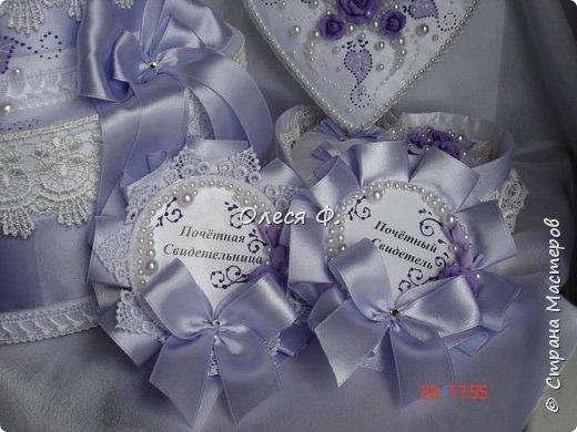 Свадебный комплект в нежной сиреневой гамме. фото 5