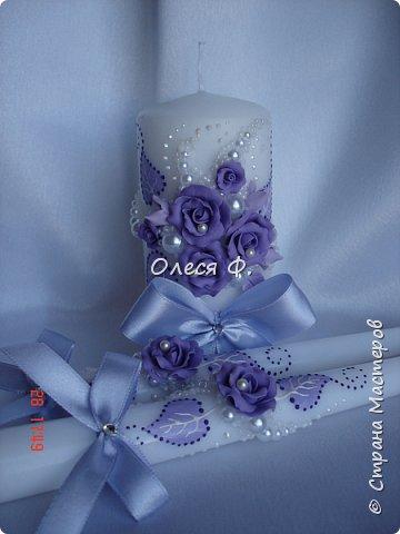 Свадебный комплект в нежной сиреневой гамме. фото 6