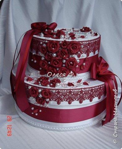 Свадебный комплект в модном ныне винном цвете МАРСАЛА. Выполнен на заказ.  фото 5