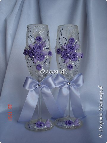 Свадебный комплект в нежной сиреневой гамме. фото 8