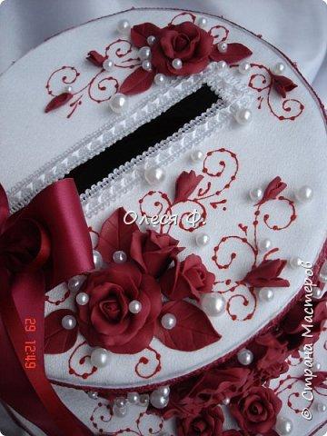Свадебный комплект в модном ныне винном цвете МАРСАЛА. Выполнен на заказ.  фото 6