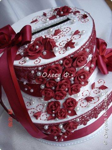 Свадебный комплект в модном ныне винном цвете МАРСАЛА. Выполнен на заказ.  фото 7