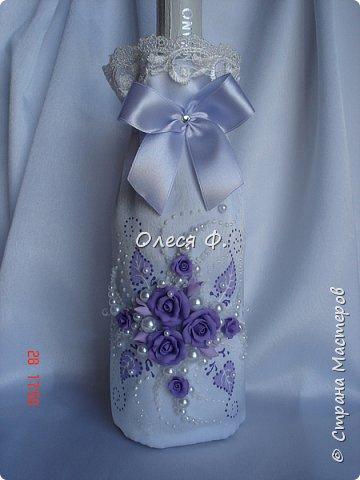 Свадебный комплект в нежной сиреневой гамме. фото 7