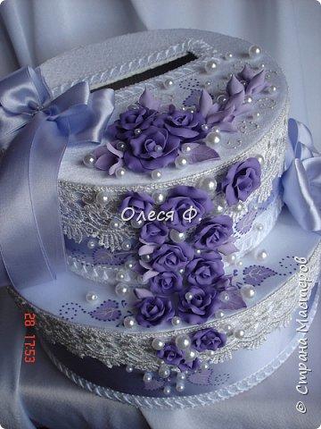 Свадебный комплект в нежной сиреневой гамме. фото 3