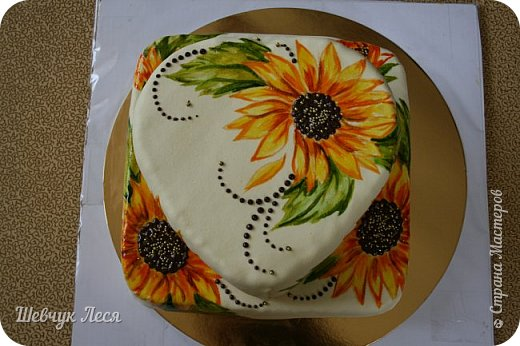 Приветик Всем!!!Хочу показать Вам какой тортик мы с дочкой придумали на день рождение нашему папе,мужу. Это новшество в оформлении тортов.Рисунок на мастике.Рисовала дочка пищевыми красками и плюс шоколад. Идея моя, а рисунок дочки! фото 4