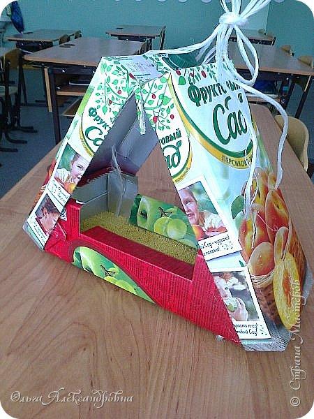 """Совсем недавно у нас прошел в классе проект """"Накормим птиц зимой"""" Дети вместе с родителями сделали самые разнообразные кормушки. Мы их повесили около школы. Теперь постоянно подкармливаем птичек. фото 4"""